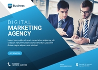 Digital Marketing Agency Banner Postcard template