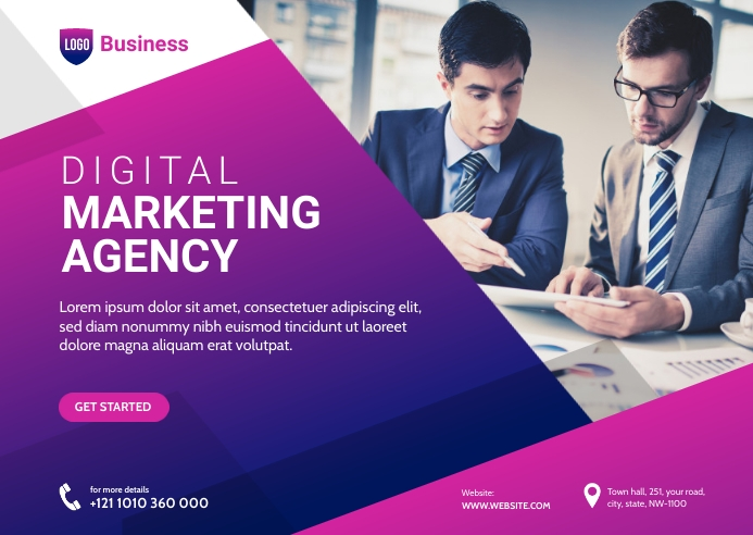 Digital Marketing Agency Banner Postkort template