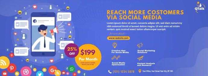 Digital Marketing Agency Foto Sampul Facebook template