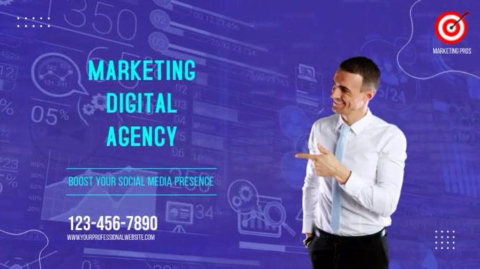 Digital Marketing Agency 数字显示屏 (16:9) template