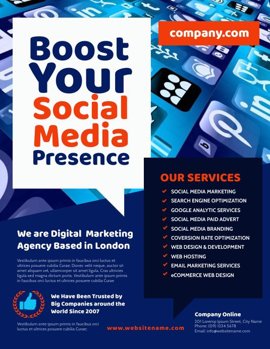 Digital Marketing Agency Flyer Template Postermywall