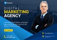 Digital Marketing Agency Postcard Ad template