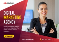 Digital Marketing Banner Design Carte postale template