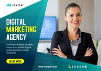 Digital Marketing Banner Design Poskaart template