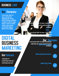 Digital marketing business flyer template design