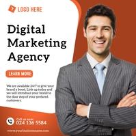 Digital Marketing Business Flyer Template Square (1:1)