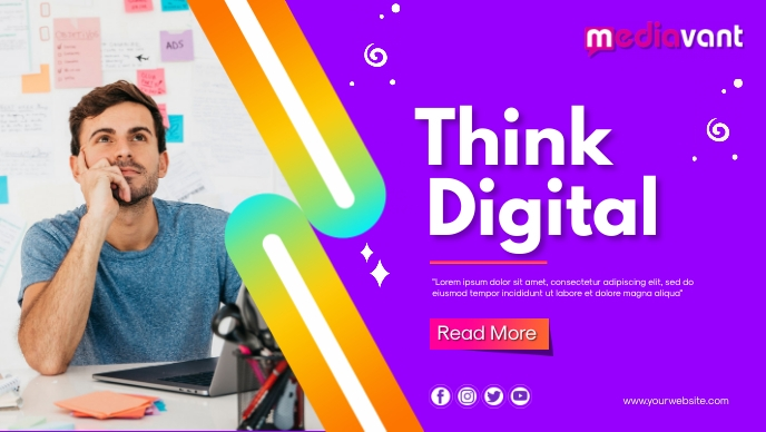 Digital Marketing Cover template