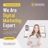 Digital Marketing Instagram Post template