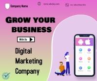 Digital Marketing Stort rektangel template