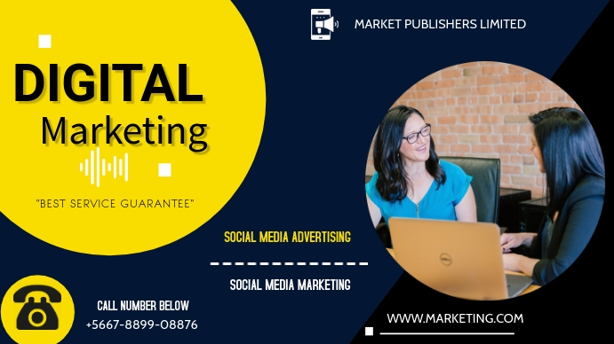 Digital Marketing flyer Digitalanzeige (16:9) template