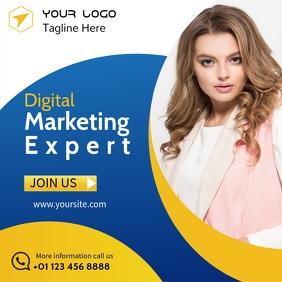 Digital Marketing Flyer for Instagram Ads template