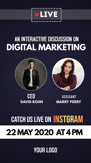 digital marketing instagram Story template