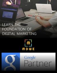 Digital marketing institute poster template