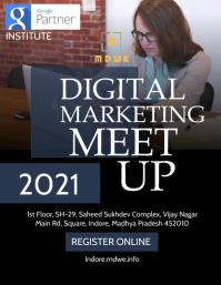 Digital marketing poster template