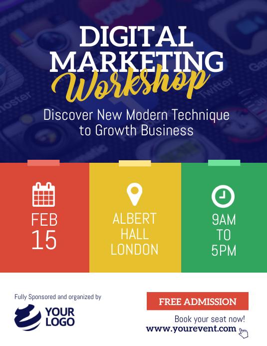 Digital Marketing Seminar Workshop Flyer