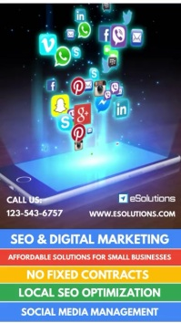 Digital Marketing Services Video Flyer Digitale display (9:16) template