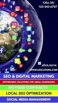 Digital Marketing Services Video Flyer Digitale Vertoning (9:16) template