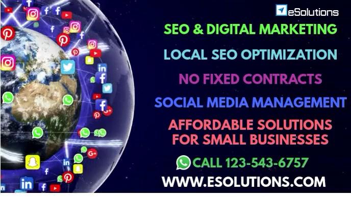 Digital Marketing Services Video Flyer งานนำเสนอ Presentation (16:9) template