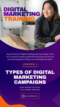 Digital Marketing Training IGTV Instagram-verhaal template