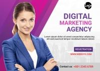 Digital Marketing Workshop Postcard Poskaart template