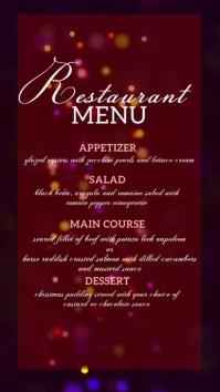 DIGITAL menu DISPLAY BOARD template