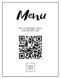 Digital Menu Poster Folheto (US Letter) template