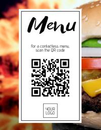Digital Menu Poster Flyer (US Letter) template