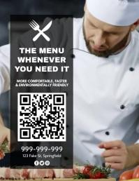 Digital Menu Video Poster Flyer (US Letter) template