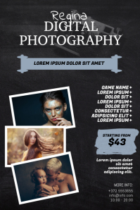 Digital Photography Flyer Design Template