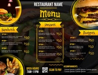 digital restaurant menu board Flyer (Letter pang-US) template