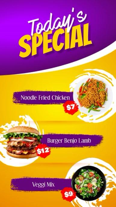 Digital Restaurant Menu Digital Display template