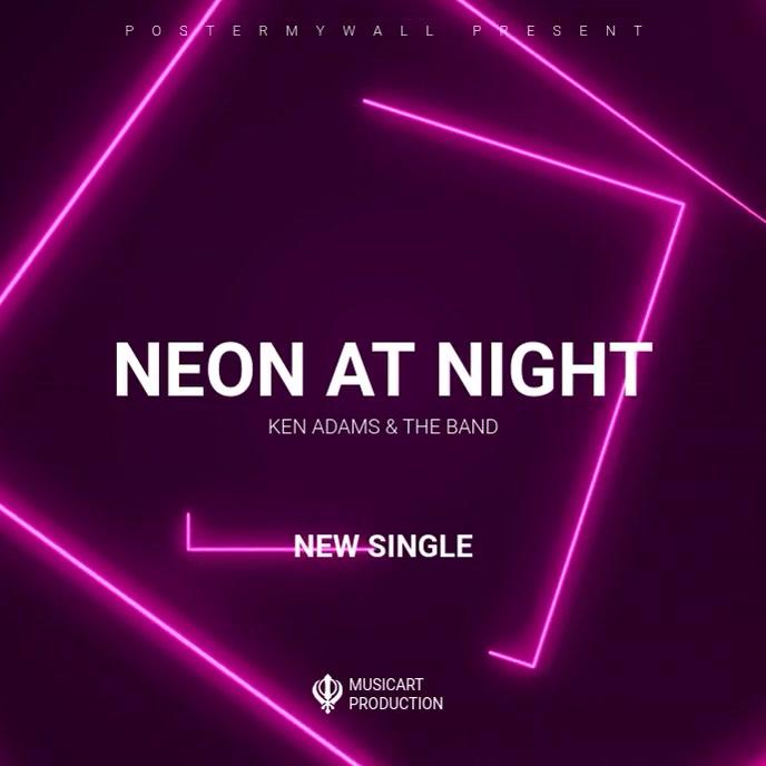Digital Single or Album cover ad promote Albumcover template