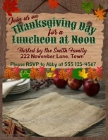 Digital Thanksgiving Luncheon Template