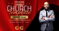 digital video church ad design template Image partagée Facebook