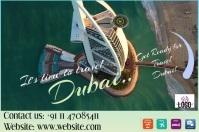 Dubai Travel Flyer/Poster/Video/Design template