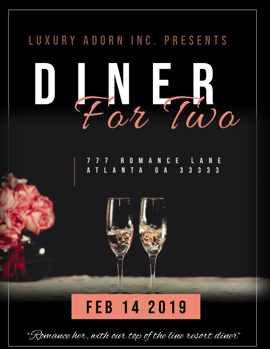 Diner for two romantic Iflaya (Incwadi ye-US) template
