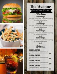 Diner/Pub Menu
