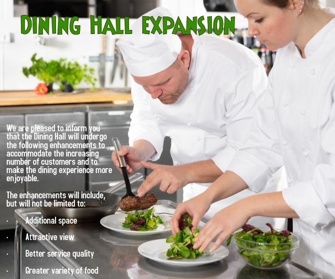 Dining Hall Expansion Rettangolo grande template