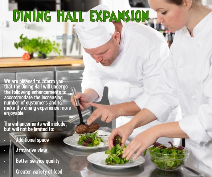 Dining Hall Expansion Duży prostokąt template