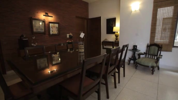 Dining table room for guests video template