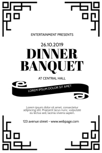 Dinner Banquet Event Flyer Design Template