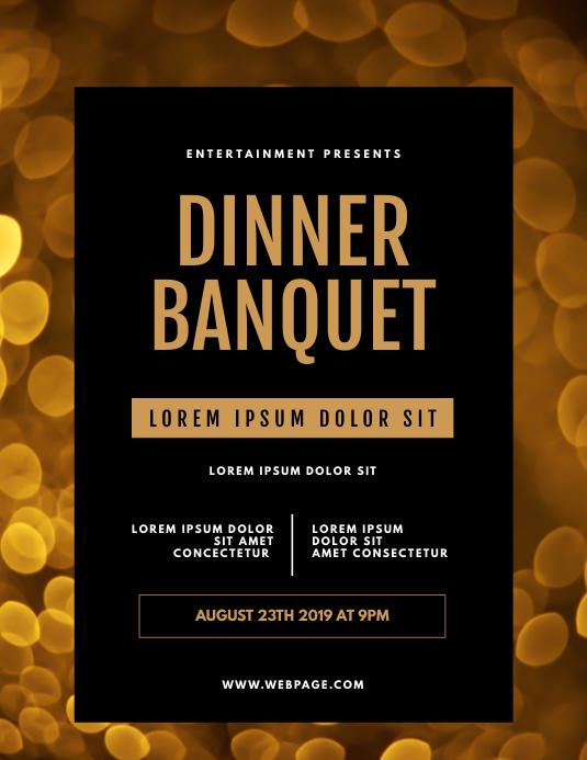 Dinner Banquet Flyer Template