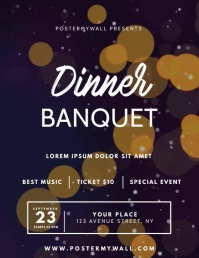 Dinner Banquet Video Invitation Design Flyer (US Letter) template