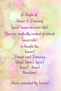 Dinner Dance Event Flyer Party Gala Ball Black Tie Formal