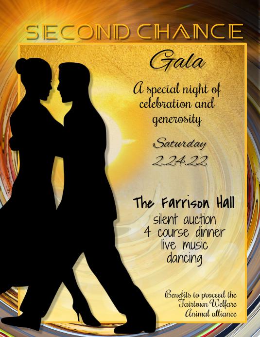 dinner dancing Gala Event Poster Flyer