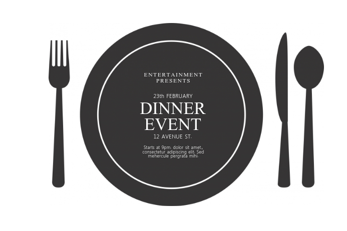 Dinner Event Flyer Template  Postermywall