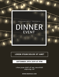 Dinner Event Night Flyer Template