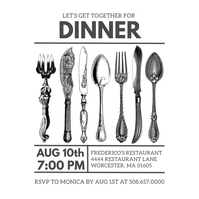 Dinner Invitation Template Instagram 帖子