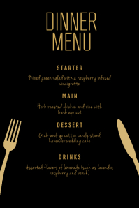 Dinner Menu Flyer Template