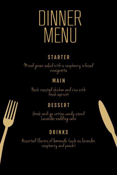 Dinner Menu Flyer Template